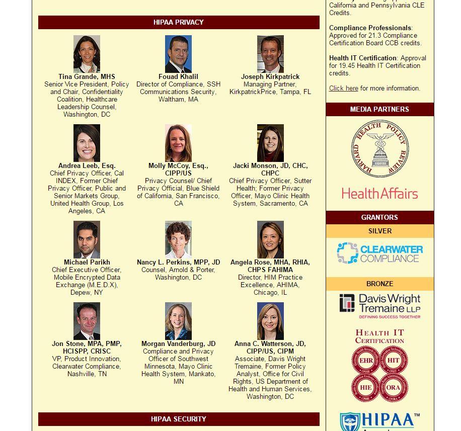 2016 HIPAA Summit